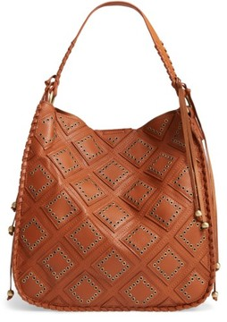 Shiraleah Skylar Faux Leather Hobo - Brown