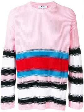 MSGM striped rib knit sweater
