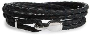 Miansai Men's Trice Braided Leather & Sterling Silver Bracelet