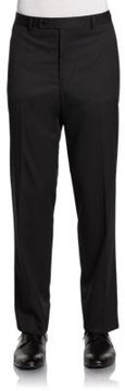 Slim-Fit Pinstriped Wool Trousers