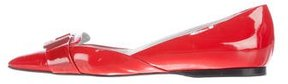Versace Patent Leather Square-Toe Flats