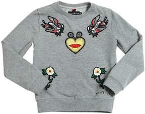 John Richmond Embroidered Cotton Sweatshirt