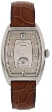 Franck Muller Havana 2852 S6 HV Stainless Steel & Leather Manual 32mm Unisex Watch