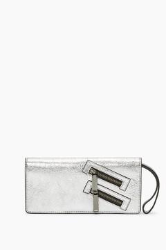 Rebecca Minkoff Long Snap Wallet - SILVER - STYLE