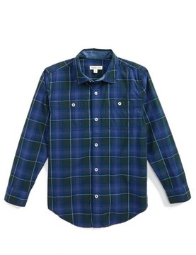 Tucker + Tate Boy's 'Photo Op' Long Sleeve Cotton Woven Shirt