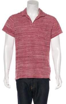 Orlebar Brown Striped Terry Cloth Polo Shirt w/ Tags