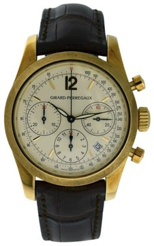 Girard Perregaux 4956 18K Yellow Gold & Leather 40mm Watch