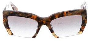 Miu Miu Tortoiseshell Half-Rim Sunglasses