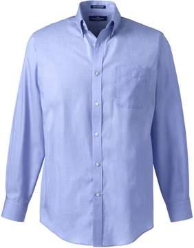 Lands' End Lands'end Men's Long Sleeve Button Down Ultimate Dress Shirt