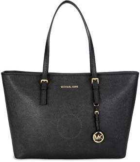Michael Kors Jet Set Medium Travel Saffiano Leather Tote - Black - ONE COLOR - STYLE