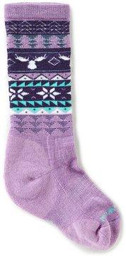 Smartwool Girls Wintersport Moose-Print Knee-High Socks