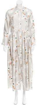 Brock Collection Printed Silk Maxi Dress w/ Tags