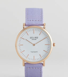 Reclaimed Vintage Inspired Canvas Watch In Blue 36mm Exclusive to ASOS