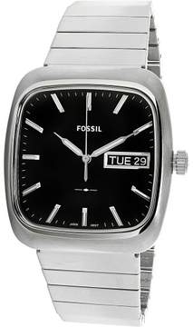 Fossil Rutherford Black Dial Men's Stainless Steel Watch FS5331