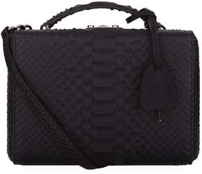 Mark Cross Small Python Grace Box Bag