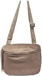Borbonese Women's Grey Polyester Shoulder Bag.
