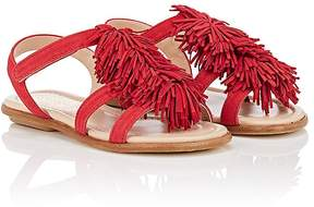 Aquazzura Kids' Wild Suede Sandals