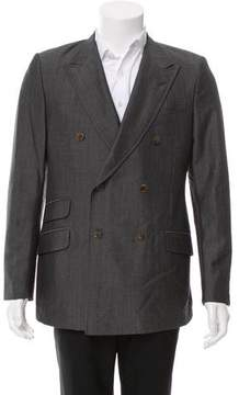 Gucci Double-Breasted Wool & Mohair-Blend Blazer
