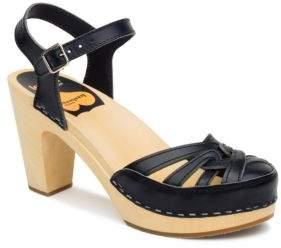 Swedish Hasbeens Agneta Leather Platform Sandals