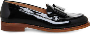 Office Present Bow patent leather loafers