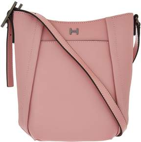 Halston H By H by Smooth & Pebble Leather Crossbody Bag