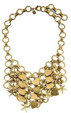 Dannijo Marinella Stars & Hearts Chainmail Bib Necklace