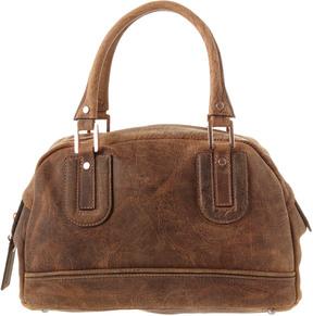 Longchamp Suede Shoulder Bag - BROWN - STYLE