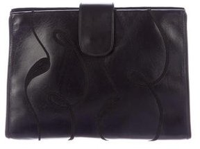 Movado Embroidered Leather Clutch