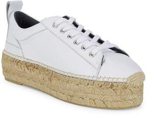 McQ Women's Leather Flatform Espadrille Sneakers