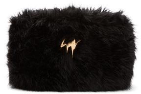Giuseppe Zanotti Black Faux-Fur Clutch