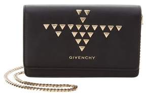 Givenchy Studded Pandora Leather Wallet On Chain.