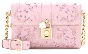 Dolce & Gabbana Embroidered Dolce leather crossbody bag