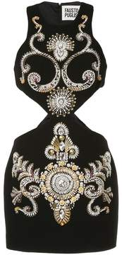 Fausto Puglisi jewelled cut-out mini dress
