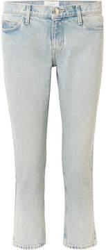 Current/Elliott The Cropped Mid-rise Straight-leg Jeans - Light denim