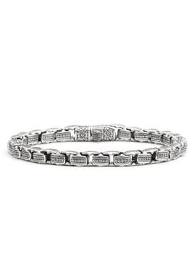 Konstantino Men's 'Minos' Etched Dot Link Bracelet