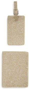 Nordstrom Shimmer Passport Cover & Luggage Tag Gift Set - Metallic
