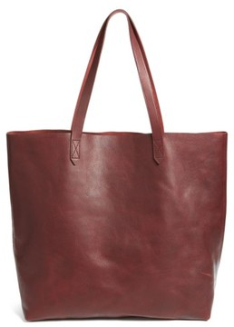 Madewell 'Transport' Leather Tote - Burgundy