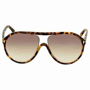 Tom Ford Blonde Havana Aviator Sunglasses