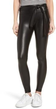 David Lerner Women's Elliot High Waist Faux Leather Leggings