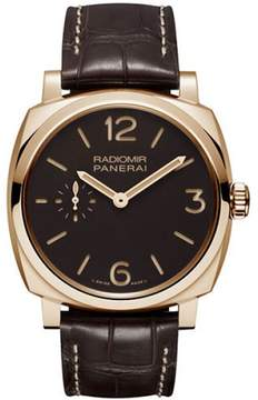 Panerai Radiomir 18K Rose Gold / Leather 42mm Mens Watch