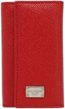 Dolce & Gabbana Textured-Leather Key Holder