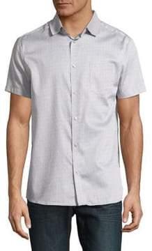 Karl Lagerfeld Paris Printed Button-Down Shirt