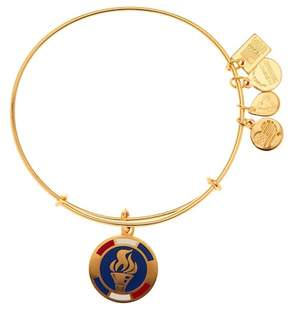 Alex and Ani Team USA Flame Torch Charm Expandable Wire Bangle