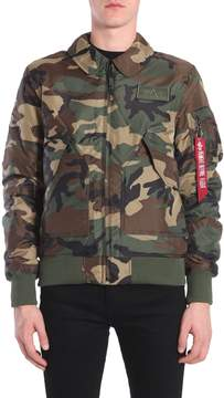 Alpha Industries Bomber Jacket In Technical Fabric