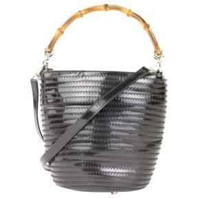 Gucci Bamboo patent leather handbag - BLACK - STYLE
