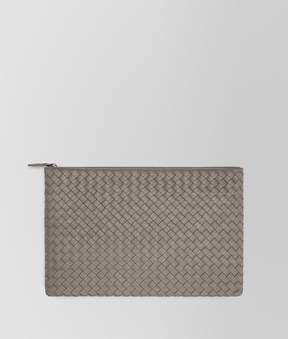 Bottega Veneta Large Document Case In Steel Intrecciato Nappa Leather
