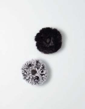 American Eagle Outfitters AE Faux Fur Scrunchie Duo