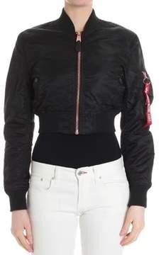 Alpha Industries Women's Black Outerwear Jacket.