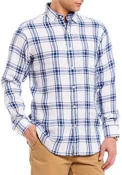 Daniel Cremieux Check Linen Long-Sleeve Woven Shirt