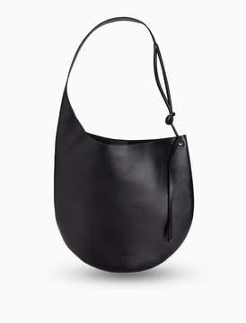 Calvin Klein leather contoured hobo